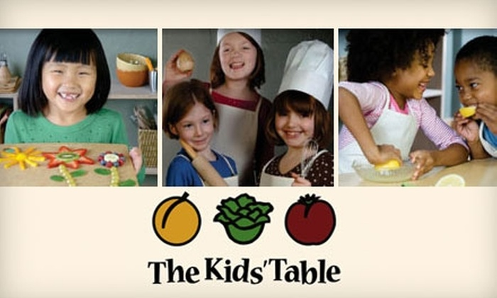 The Kids' Table - Chicago: $12 for a Kids Can Cook or Tots Can Cook Class at The Kids' Table ($25 Value)