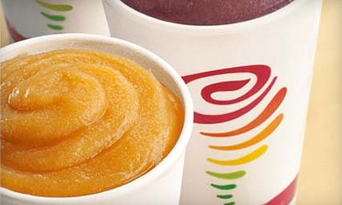 Jamba Juice - Multiple Locations: $5 for Two Original-Sized Smoothies at Jamba Juice (Up to $10.72 Value). Multiple Locations Available.
