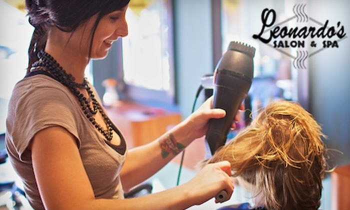 Leonardo's Salon & Spa - Quincy: Haircut Packages at Leonardo's Salon & Spa in Quincy. Choose from Three Options.