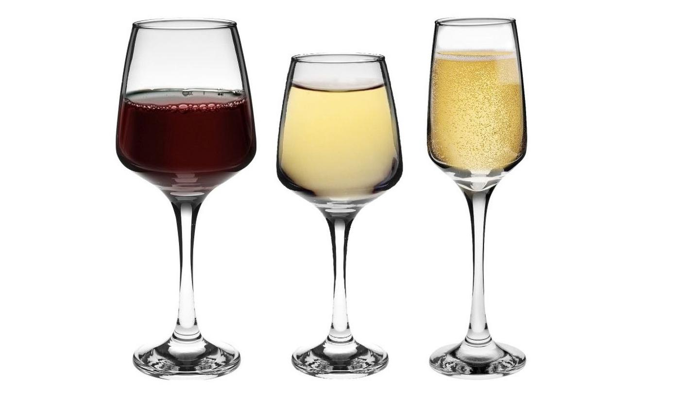 Up To 24 Tallo Champagne, White or Red Wine Glasses