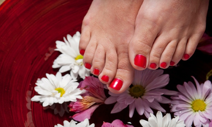 Divine Nails & Spa - Hillcrest: Basic Spa Pedicure or Shellac Manicure at Divine Nails & Spa (Up to 53% Off)