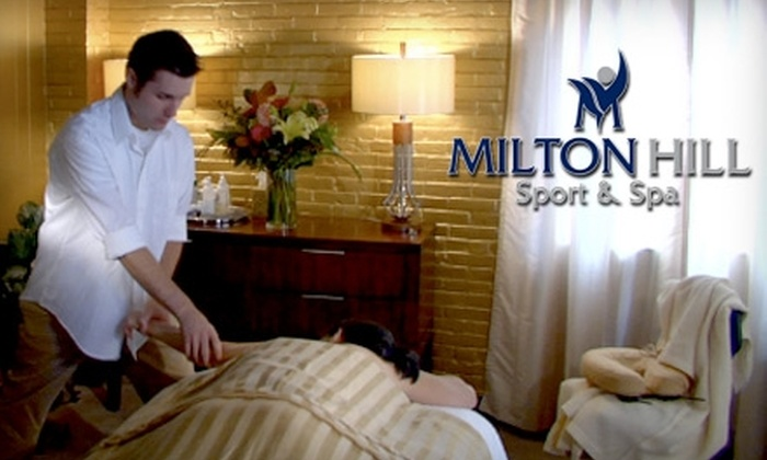 Milton Hill Sport & Spa - Milton: $45 for a Massage or Facial at Milton Hill Sport & Spa in Milton (Up to $95 Value)
