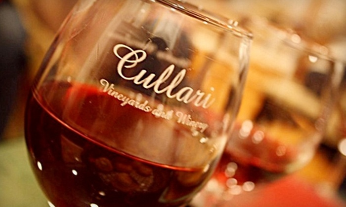 Cullari Vineyards and Winery - Derry: $14 for a Wine Tasting for Two and Bottle of Wine at Cullari Vineyards and Winery (Up to $28.62 Value)
