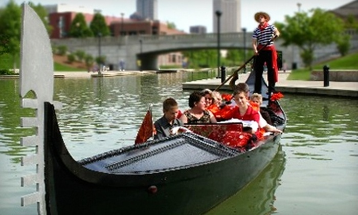 Old World Gondoliers - Downtown Indianapolis: $125 for a One-Hour Gondola Ride and One Bottle of Wine from Old World Gondoliers
