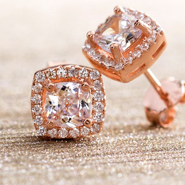 d77ce6421 Up To 87% Off on Lesa Michele Gold Plated Studs | Groupon Goods