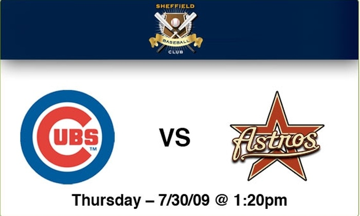 Sheffield Baseball Club - Lakeview: $125 Rooftop Tickets—Cubs vs Astros, 7/30, 1:20 p.m.