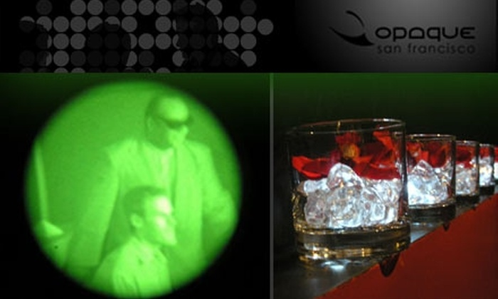 Opaque - Dining in the Dark - Civic Center: $99 for a Sensual Dinner for Two at Opaque—Dining in the Dark ($200 Value)