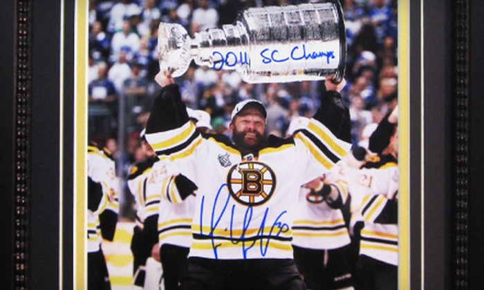 Powers Collectibles: $159 for an Autographed Tim Thomas Stanley Cup Photo from Powers Collectibles ($318.95 Value)