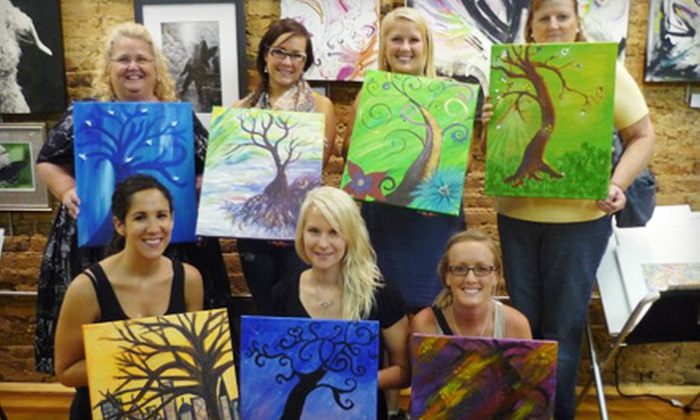 The Grape Easel at Blowfish Emporium - Bristol: $15 for a BYOB Adult-Painting Class by The Grape Easel at Blowfish Emporium in Bristol, VA