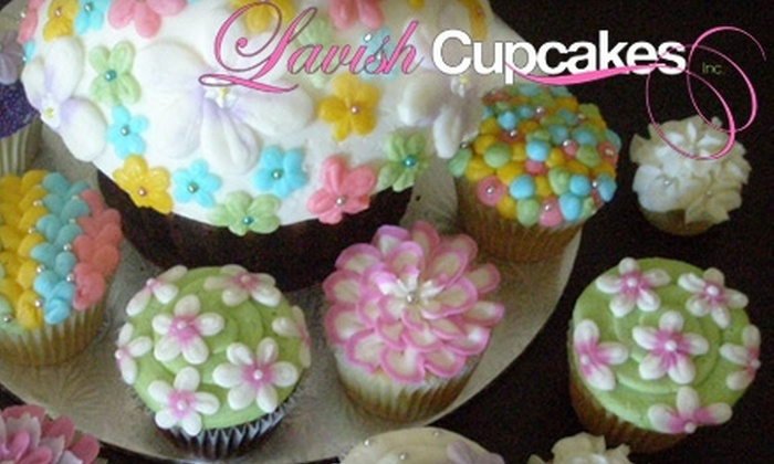 Lavish Cupcakes - Woodbridge: $15 for One Dozen Mini-Lavish Cupcakes at Lavish Cupcakes