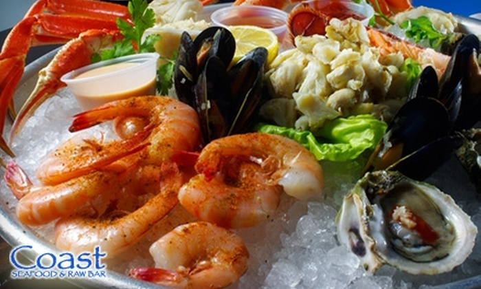 Coast Seafood & Raw Bar - Peachtree Heights West: $20 for $40 Worth of Seafood and Drinks at Coast Seafood & Raw Bar