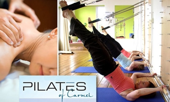 Pilates of Carmel - Carmel: $49 for Three Springboard Classes and a One-Hour Massage at Pilates of Carmel ($171 Value)