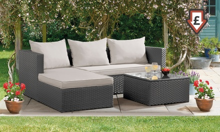 Havana RattanEffect Corner Sofa Set with Optional Cover and/or Spare Cushion Covers With Free Delivery