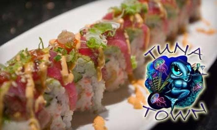 Tuna Town Sushi Bar and Teppan Yaki Grill - Downtown Huntington Beach: $20 for $40 Worth of Fresh Fare and Drinks at Tuna Town Sushi Bar and Teppan Yaki Grill