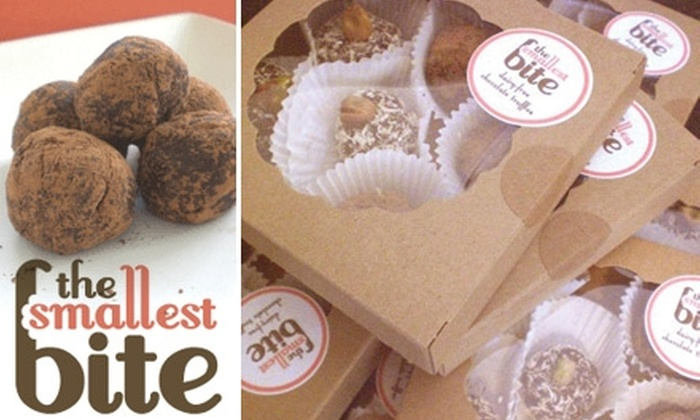 The Smallest Bite - Providence: $9 for a Box of Six Organic Truffles Plus Shipping from The Smallest Bite ($17 Total Value)