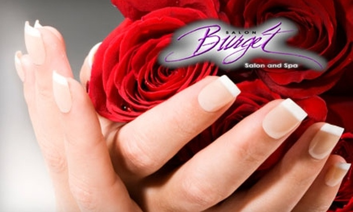 Salon Burget - Lenexa: $21 for One Shellac Nail Treatment and Express Manicure at Salon Burget (Up to $42 Value)