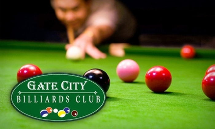 Gate City Billiards Club - Greensboro: $10 for $25 Worth of Pool and Snacks at Gate City Billiards Club