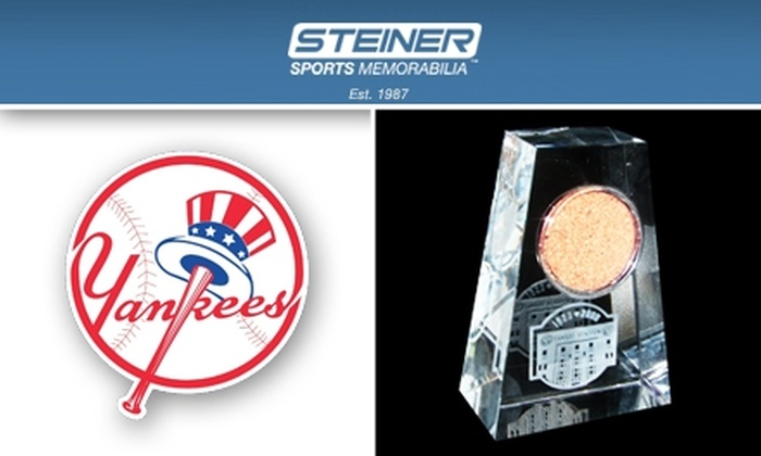 Steiner Sports  - New York City: $39 for Yankee Stadium Final Season Paperweight with Dirt from the Field from Steiner Sports ($80 Value)