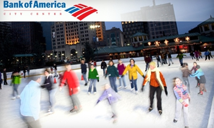 Bank of America City Center - Downtown Providence: $5 for Admission to Bank of America City Center's Massive Ice Rink, Plus Skate Rental (Up to $10 Value)