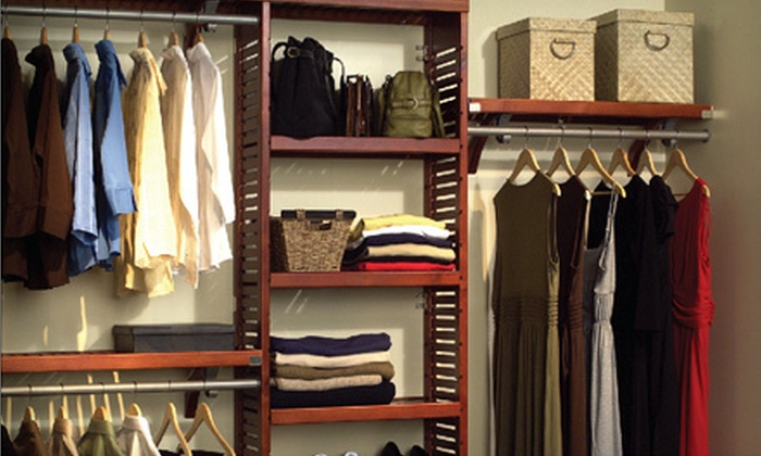 6 foot wood closet organizer 2