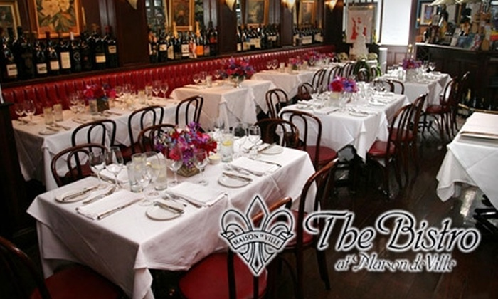 The Bistro at Maison de Ville - New Orleans: $35 for $70 Worth of Upscale Creole-French Cuisine and Drinks at The Bistro at Maison de Ville