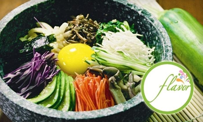 Flavor Factory - Park De Ville: $10 for $20 Worth of Authentic Korean Fusion Dinner at Flavor Factory