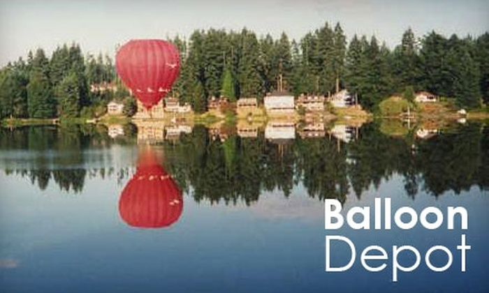 Balloon Depot - Seattle: SOLD OUT: Hot-Air-Balloon Ride with Post-Flight Meal and Toast from Balloon Depot. Choose Morning or Evening Option.