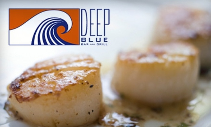 Deep Blue Bar and Grill - Mid-town Brandywine: $17 for $35 Worth of American Cuisine and Drinks at Deep Blue Bar and Grill