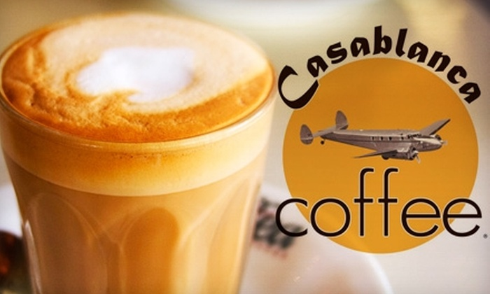 Casablanca Coffee - Downtown Nashville: $5 for $10 of Café Fare and Specialty Drinks at Casablanca Coffee