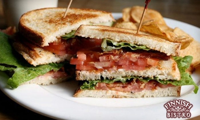 The Finnish Bistro - Murray Field Area: $12 for $25 Worth of Dinner Fare and Wine or $6 for $12 Worth of Breakfast or Lunch Fare at The Finnish Bistro