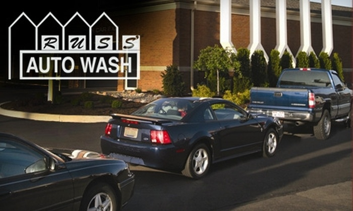 Russ' Auto Wash - Multiple Locations: $17 for Five Express Car Washes at Russ' Auto Wash