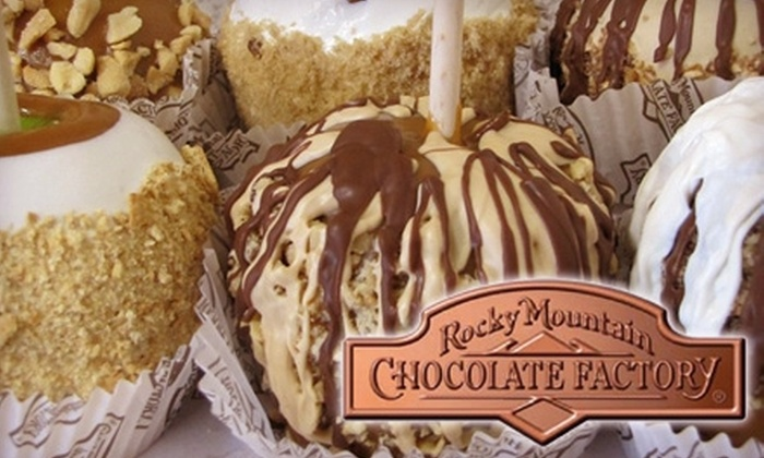 Rocky Mountain Chocolate Factory - Atlantic City: $30 for a Six-Pack Assortment of Caramel Apples from Rocky Mountain Chocolate Factory - Atlantic City ($62 Value)