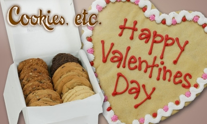 Cookies, etc. - Multiple Locations: $9 for a Dozen Mix-n-Match Cookies or a Medium Heart-Shaped Cookie from Cookies, etc. (Up to $19 Value)