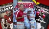 "Touchdown Alabama: Hard-Copy or Digital Subscription to ""Touchdown Alabama Magazine"" (Up to 75% Off)"
