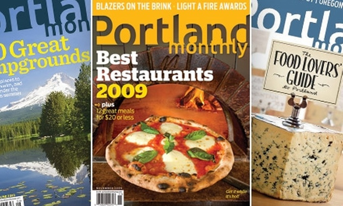 """Portland Monthly Magazine - Portland: $8 for a One-Year Subscription to """"Portland Monthly"""""""
