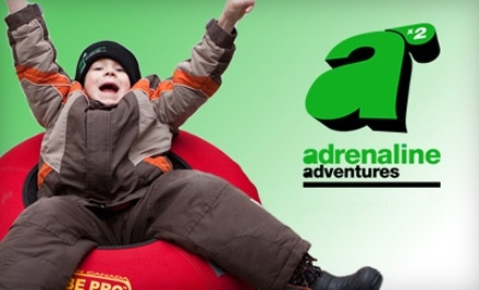 Adrenaline Adventures: 2 Evening Snow-Tubing Passes Good Between 5:00 PM and 9:00 PM - Adrenaline Adventures in Headingley