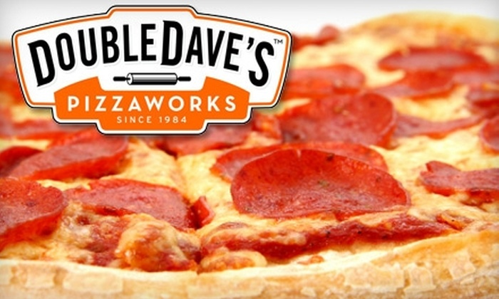 DoubleDave's Pizzaworks - Three Hills: $10 for $20 Worth of Pizza at DoubleDave's Pizzaworks