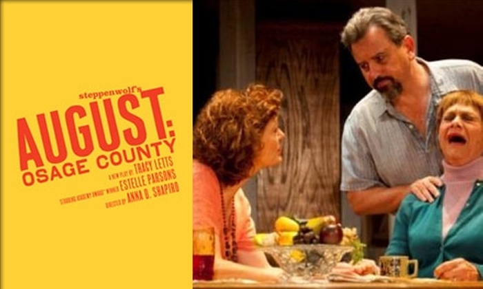 """AT&T Performing Arts Center  - Downtown Dallas: $39 for a $65 Ticket to """"August: Osage County"""" at AT&T Performing Arts Center. Buy Here for January 20 at 2 p.m. Click Below for the Evening Performance."""