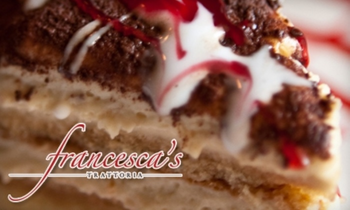 Francesca's Trattoria - Gainesville: $10 for $20 Worth of Northern Italian Cuisine and Drinks at Francesca's Trattoria