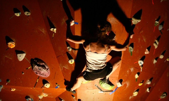 RedPoint - Douglas Byrd: Rock-Climbing Package with Gym Membership and Belay Class for One or Two at RedPoint in Fayetteville (Up to 65% Off)