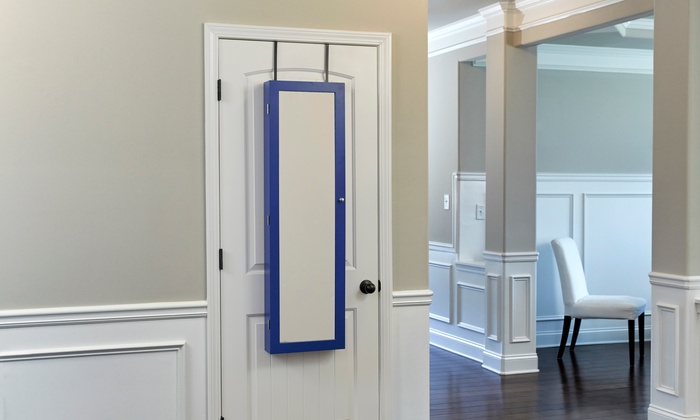 Wall Hang Or Over The Door Jewelry Armoire Groupon