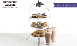 Patisserie Valerie: Festive Afternoon Tea for Two with Optional Prosecco and Mince Pies at Patisserie Valerie, Nationwide (Up to 23% Off)