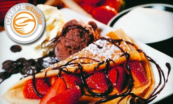 CrêpeStudio - Old Pasadena: $5 for $10 Worth of Crêpes, Paninis, and Drinks at CrêpeStudio