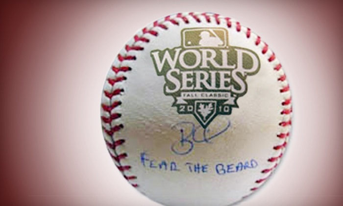 """Powers Collectibles: $144 for a 2010 World Series """"Fear the Beard"""" Brian Wilson Autographed Baseball from Powers Collectibles ($298.95 Value)"""