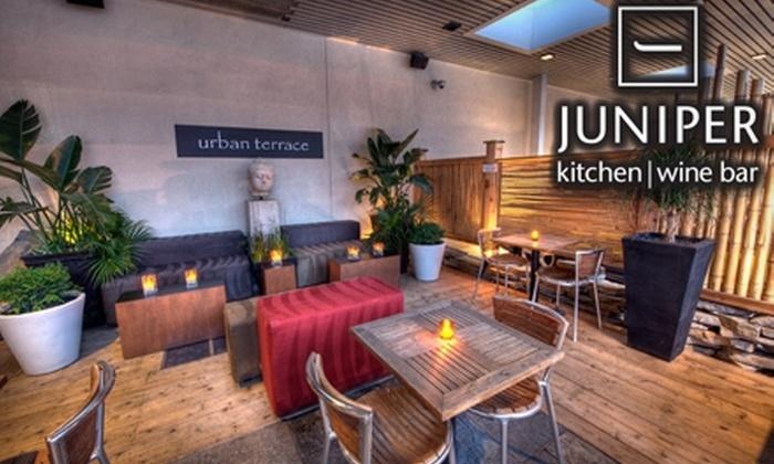 Juniper Kitchen & Wine Bar - Westboro: $25 for $50 Worth of Upscale Seasonal Fare and Drinks at Juniper Kitchen & Wine Bar