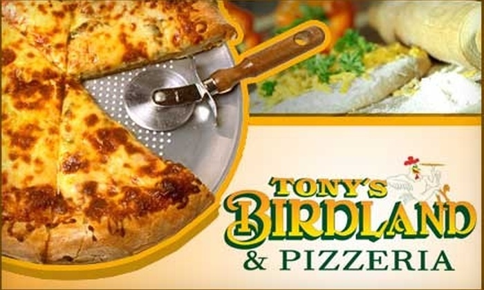 Tony's Birdland & Pizzeria - Multiple Locations: $10 for $20 Worth of Wings, Pizza, and More at Tony's Birdland & Pizzeria