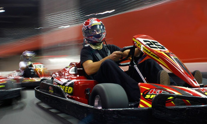 K1 Speed - Hollywood: $44 for a Go-Kart-Racing Package with Four Races and Two Annual Race Licenses at K1 Speed in Hollywood (Up to $92 Value)