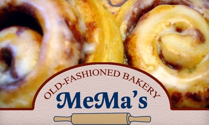 MeMa's Old-Fashioned Bakery - Multiple Locations: $7 for $15 Worth of Bakery Bites and Lunch Fare at MeMa's Old-Fashioned Bakery. Choose From Two Locations.