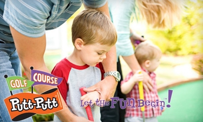 Alley Cats/Putt-Putt Entertainment - Multiple Locations: $16 for Two 18-Hole Rounds of Putt-Putt, Two Hot Dogs, Two Soft Drinks, and 50 Arcade Tokens at Putt-Putt Golf & Games ($38 Value)