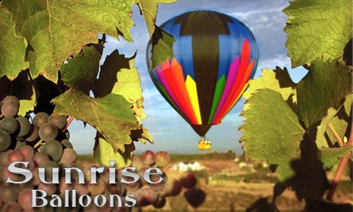 Sunrise Balloons - Murrieta: $98 for Hot-Air-Balloon Ride and Picnic for One With Sunrise Balloons